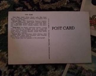 1947 Cubs postcard