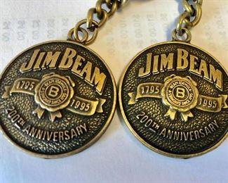 Jim Beam anniversary keychains