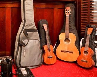 Acoustic guitar and ukuleles