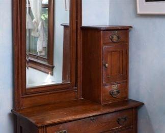 Antique Mirror Dresser