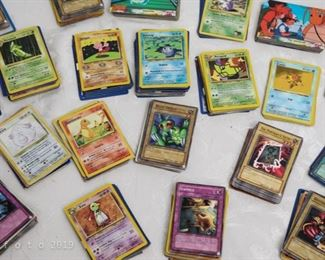 Pokémon  and Yu-gi-oh collectible playing cards