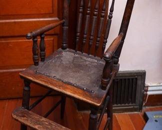 Antique Children Training  High Chair