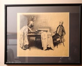 Charles Dana Gibson People of Dickens signed prints