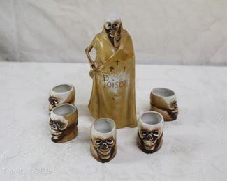 vintage poison sake set by shofu
