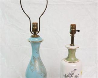 antique glass table lamps