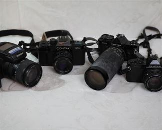 Sony, Pentax, Contax cameras
