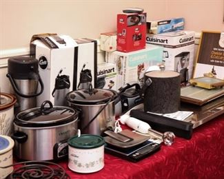 New and open box kitchen items and appliances