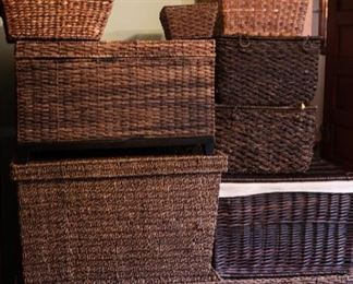 Large collection of storage baskets