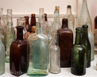 Large Collection of Antique and Vintage Bottles
