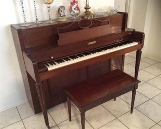 Baldwin Upright, beautiful condition, includes bench and sheet music, perfect for kids and grandkids $575.00