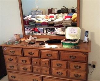 Bedroom # 1 Ballman Cummings, Ft. Smith Arkansas Hard Rock Maple, dresser with mirror $295.00