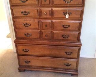 Bedroom # 1 Ballman Cummings, Ft. Smith Arkansas Hard Rock Maple, chest of drawers $225