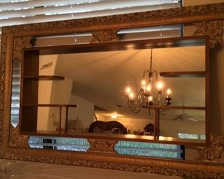 Vintage Hollywood Regency Shadowbox mirror, sorry pictures are not too good, it is fabulous $115.00