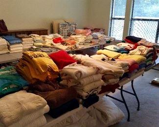 linens, sweaters, sweatshirts, etc
