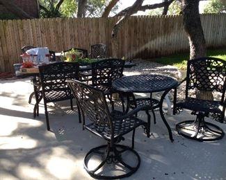 three nice sets of patio furniture