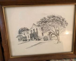 Alamo pen and ink