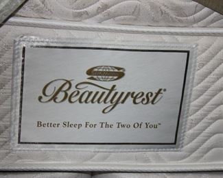 king sized like new beautyrest mattress and box springs