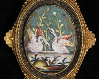 j micro mosaic pin