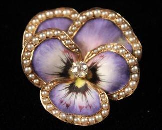 j floral pin