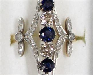 J sapphire ring