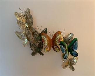 Brass and enamel butterfly wall art by Curtis Jere. Signed  (C. Jere 68)!