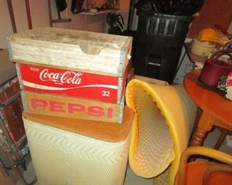 COKE, 7-UP AND PEPSI CRATES