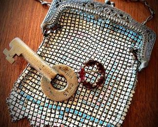Whiting & Davis mesh purse