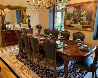 Inlaid Italian Dining Table