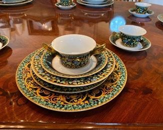 Versace China 10- 7pc. Place settings plus serving pieces