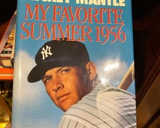 Mickey Mantle Signed Book