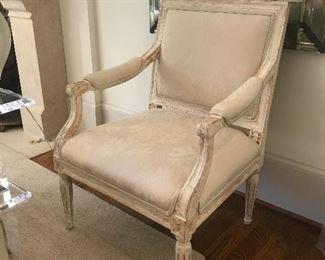 Pair of Swedish chairs circa 1880