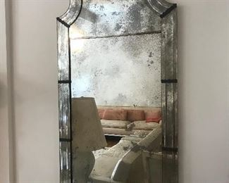 Pair of 1920's Venetian Form Pier Mirrors.