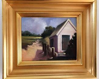 "John D. Neubauer (Pamet Boat House) 14.75x13"""
