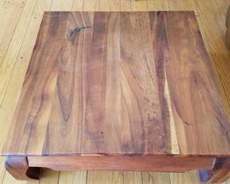 Hawaiian Koa wood table living room table