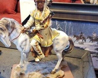 Native American warrior on horse