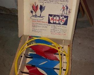 Vintage backyard Jarts Missile game