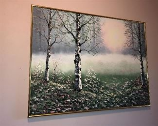 Signed oil painting, Whitaker