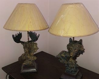 Moose & Wolf lamps