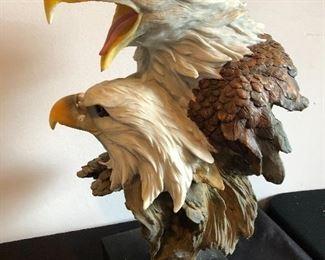 Double eagle statue