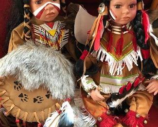 Timeless Porcelain Native American dolls