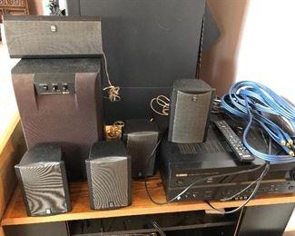 Yamaha surround sound speakers, receiver