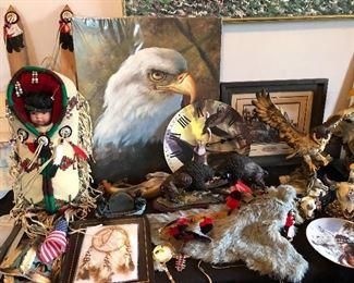 Eagles and Native American decor