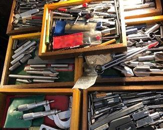 huge lot of vintage machinist tools