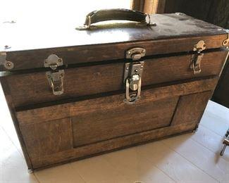 Vintage Gerstner & Sons machinist tool box, wood