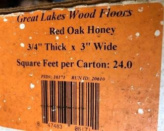 Red Honey oak, 2 boxes of wood flooring