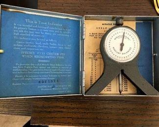 Vintage Miracle Point mercury balanced indicator by Legois