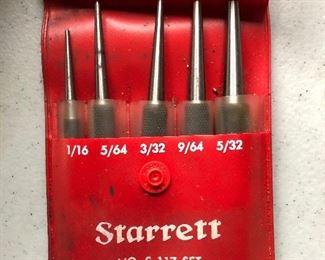 Starrett No S117 set center punches