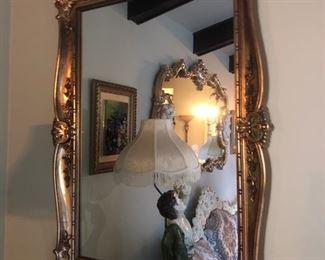 Gold framed mirror - 2 total!