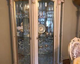 Lighted curio cabinet.....