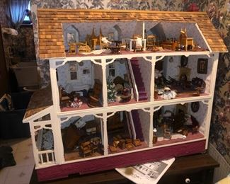 Dollhouse and furniture......